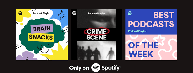 Spotify's recommended podcast playlists