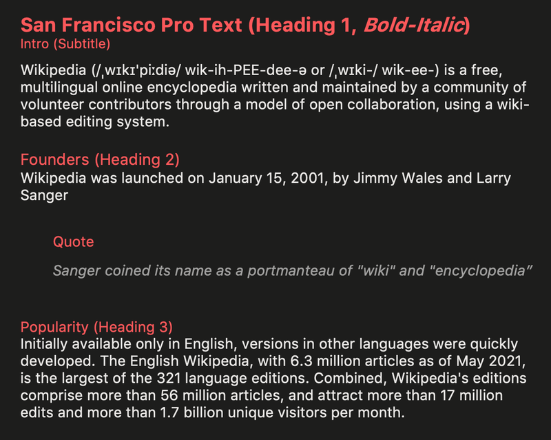 Microsoft Office San Francisco Pro neue font dark mode