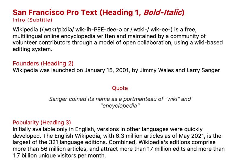 Microsoft Office San Francisco Pro neue font light mode