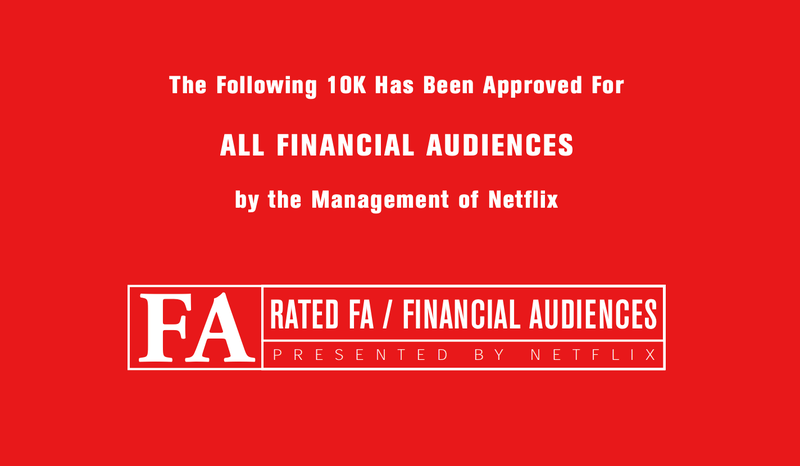 Netflix annual report 2002
