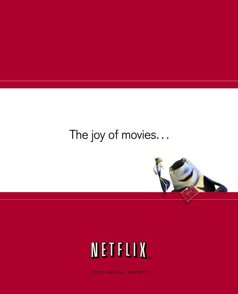 Netflix annual report 2004