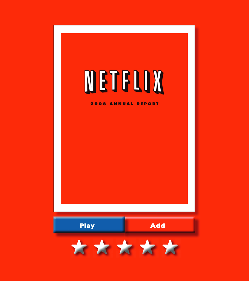 Netflix annual report 2008